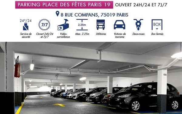 location parking paris 19