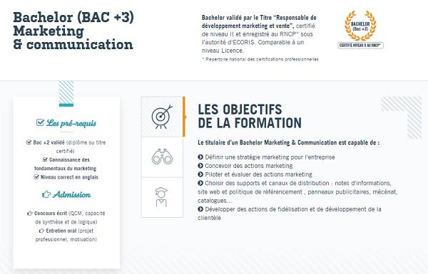 bac +3 commerce le mans