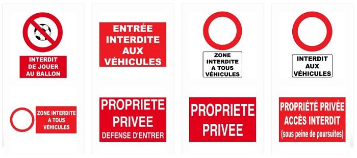 panneau interdit véhicule